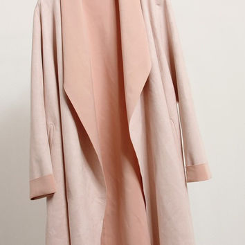 Pink Faux Suede Coat