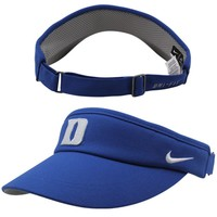 Nike Duke Blue Devils Sideline Dri-FIT Adjustable Performance Visor - Duke Blue