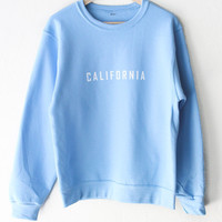 California Oversized Sweater - Light Blue