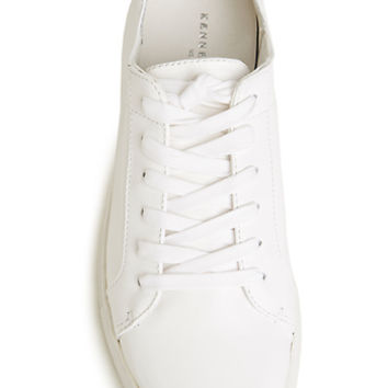 DailyLook: Kenneth Cole Kam Leather Sneakers in White 9.5