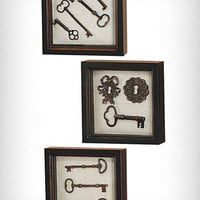 Key Collection Wall Art Set of 3 | PLASTICLAND