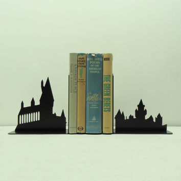 Wizard School Metal Art Bookends - Free USA Shipping