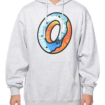 Odd Future OFWGKTA TIE DYE FILL DONUT Pullover Hoodie Grey NWT 100% Authentic