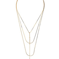 'Til Midnight Gold and Pink Layered Necklace