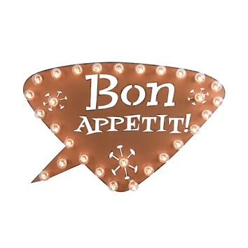 Bon Appetit! Marquee Sign