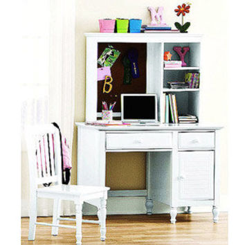 Walmart: Kylie Collection Desk with Hutch and Chair Value Bundle, White