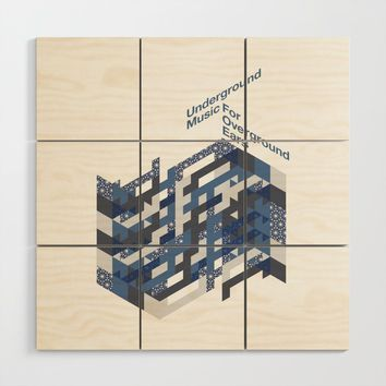 Underground Music Wood Wall Art by paulosilveira