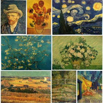 Van gogh painting famous Art Print Poster Wall Picture Canvas Painting Living Room Decor No Frame