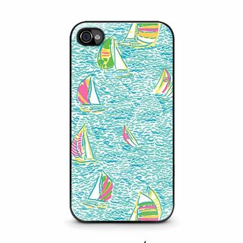 LILLY PULITZER SAILBOAT iPhone 4 / 4S Case Cover