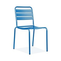 Paris Blue Metal Stackable Side Chair (Set of 4)