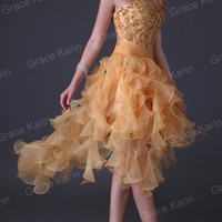 Formal Cocktail Sexy High-Low Prom Tulle Evening Dress Party Bridal Ballgown New