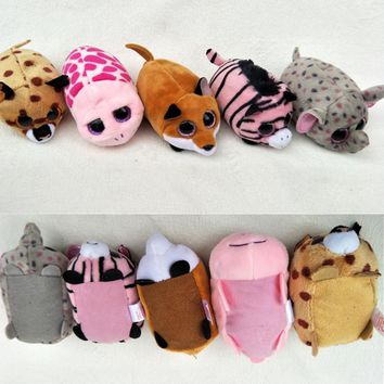 10CM Mini teeny tys Ty Beanie Boos Big Eyes unicorn TSUM Candy dog Stuffed Plush Toy Doll Pink Owl TY Baby Kids Gift