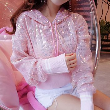 Korean Transparent Hoodie Sweater SD01512