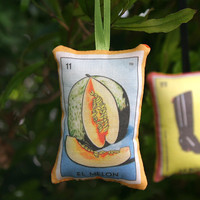 El Melon Mexican Loteria Christmas Ornament - Dia De Los Muertos / Day of the Dead / Mexico Decor