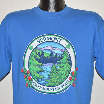 90s Vermont Green Mountain State t-shirt Large