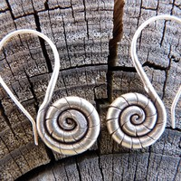 Pure Silver Layered Spiral Earrings