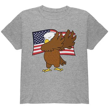 4th Of July America Dabbing Bald Eagle Youth T Shirt