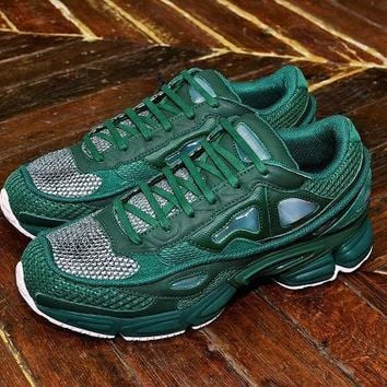 PEAPON Raf Simons x Adidas Consortium Ozweego 2 Pink Green Women Men Casual Trending Running Sneakers