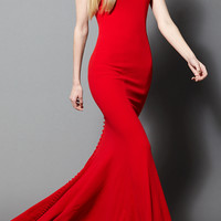 Sleeveless Gown with Button Details | Moda Operandi