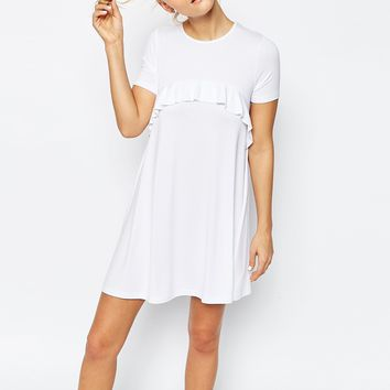 ASOS Swing Dress with Ruffle Detail