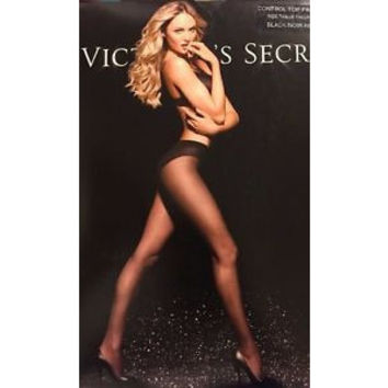 Victoria's Secret Black Control Top Pantyhose