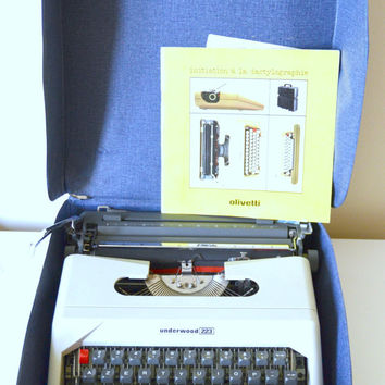 "Portable typewriter ""Underwood 223"", white, typewriter,"
