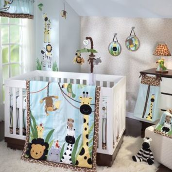 Lambs & Ivy® Peek-a-Boo Jungle 5-Piece Crib Bedding Set