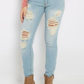 Destroyed Low Rise Jegging | Jeggings | rue21