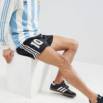 adidas Originals Retro Argentina Football Shorts In Black CD6972 at asos.com