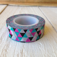 Neon Triangle Geometric Washi Tape
