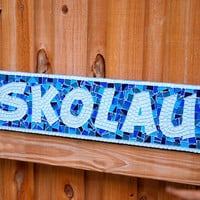 Name Art, Custom Mosaic Family Name Sign