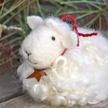 Needle Felted animal Sheep Lamb by BearCreekDesign on Etsy