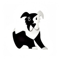 Coby Collie Brooch