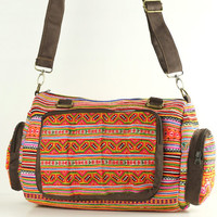 Hippie Duffle Bag, Sling Bag, Unique Cross Body/Messenger Bag Daycare Leisure Bag Gadget Purse Women