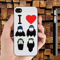 I LOVE BEARDS HEART DUCK DYNASTY iPhone 4 / 4S case iPhone 5 case Samsung Galaxy S2 case Samsung Galaxy S3 case