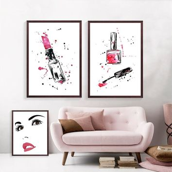 Lashes Beauty Salon Posters And Prints Wall Art Canvas Painting Wall Pictures Eyelash Lash Bar Cosmetics Store Decor