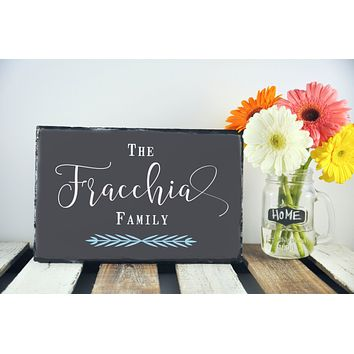 Handmade and Customizable Slate Home Sign - Personalized Family Plaque
