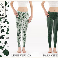 Leggings - Poison Ivy / Batman - Light & Dark Version