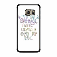 One Direction Marcel Quote Samsung Galaxy S6 Edge Case