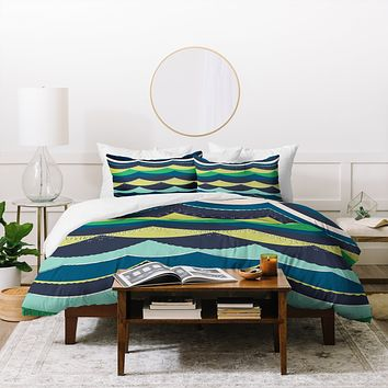 Vy La Unwavering Love Blue Green Duvet Cover
