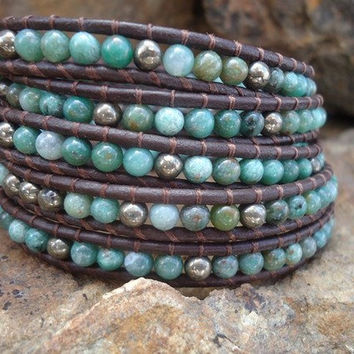 CLEARANCE The Philomena Leather Wrap Bracelet by NoliePolieOlies