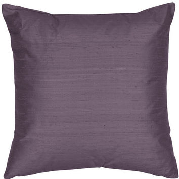 The Silk Group SQ_Dup_Sol_Periwinkle_18x18_Poly Periwinkle 18x18-Inch Silk Dupioni Square Poly Insert Decorative Pillow