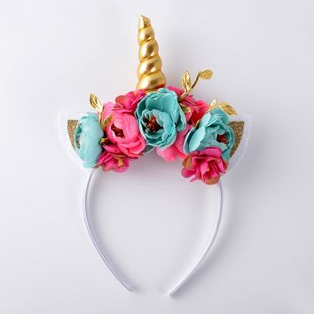 Unicorn Floral Crown Headband