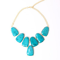Turquoise Chunky Necklace | a-thread