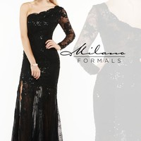 Milano Formals Lace Evening Gown E1929