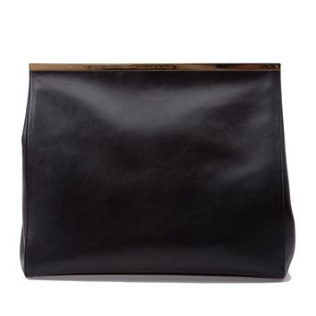 Alexandre Vauthier brand embossed magnetic fastening clutch