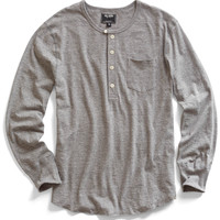 Grey Heather Pocket Henley