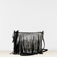 AEO METALLIC FRINGE PURSE