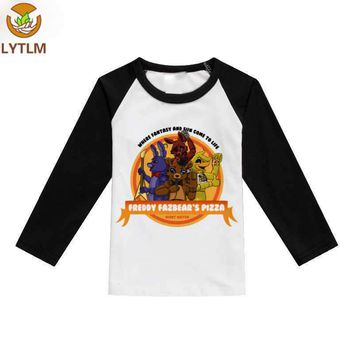 LYTLM Tee Shirt Fille Clothes  Autumn Boys Clothes Five Night at Freddy Boys Tops Fall 2018 Baby Girl Tshirt Tiny Cottons