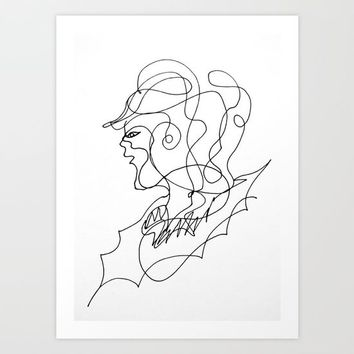 Sketching portraits Art Print by minhquanfoto